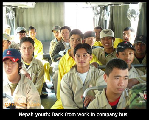 Youth in bus