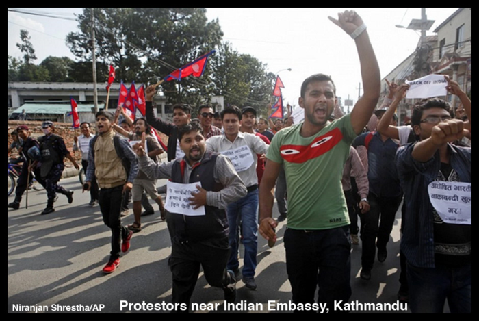 Protestors-Indian embassy