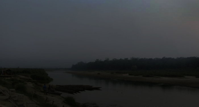 2-Narayani River at dusk-HI
